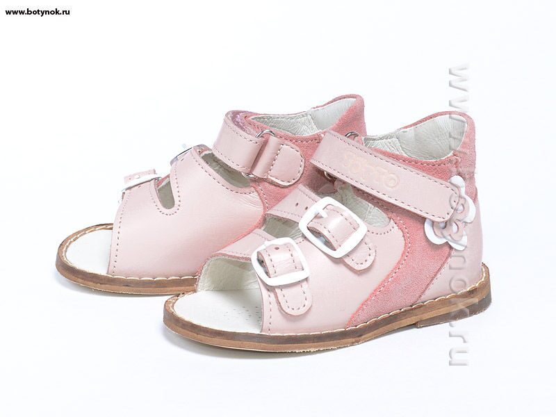 6d0185464 Сандалии Тотто розовые на первый шаг артикул 022/7-227, размер 22